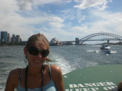 Met het Opera House en de Harbour Bridge op de achtergrond!