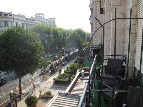 Uitzicht van hotel in Nice