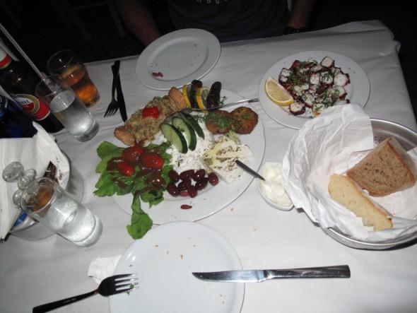 Uit eten op Paros Griekenland