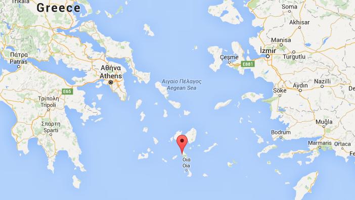 Ios Griekenland kaart