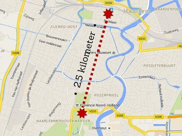 Haarlem loop route