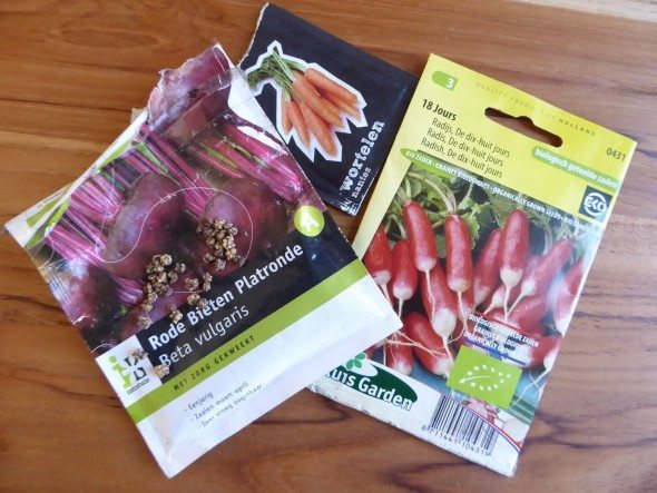 Groente zaadjes planten