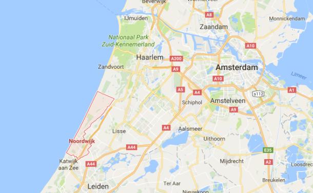 Ligging Noordwijk aan Zee