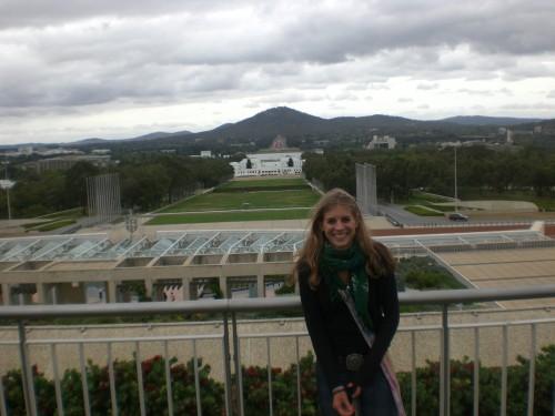 Vanaf het parlement in Canberra