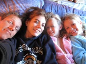 Wij, met de dochtertjes van Shane's broer