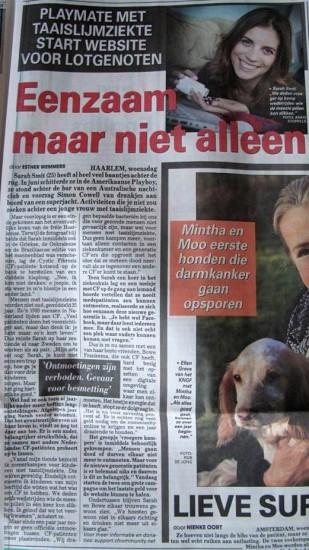 De Telegraaf gaf ons een halve pagina!
