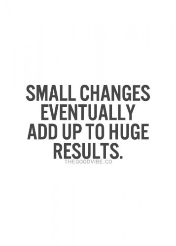 Small changes eventually add up to huge results