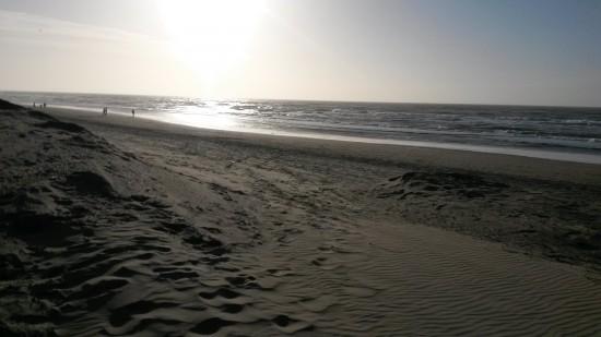 Zie je wel? Zand, zee; strand!