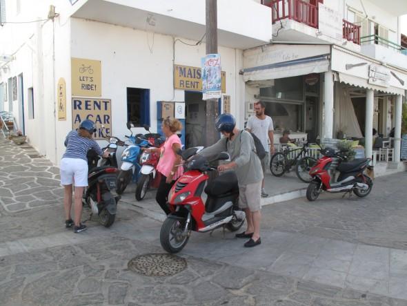 Scooter huren Paros Griekenland