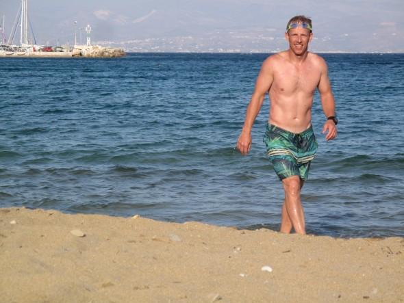Zwemmen in Griekenland zee eiland Paros