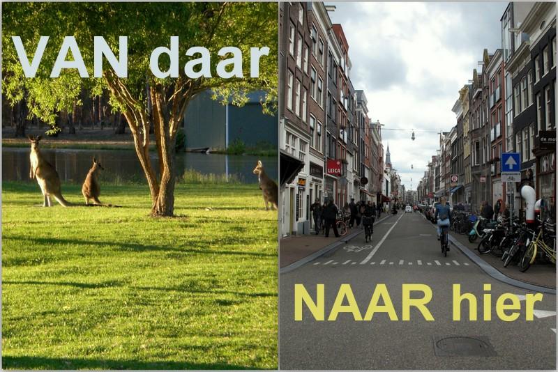 Van Australie naar Nederland