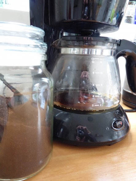 Oud koffiezetapparaat
