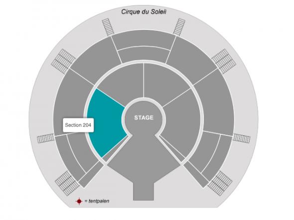 Zitplaatsen Cirque du Soleil