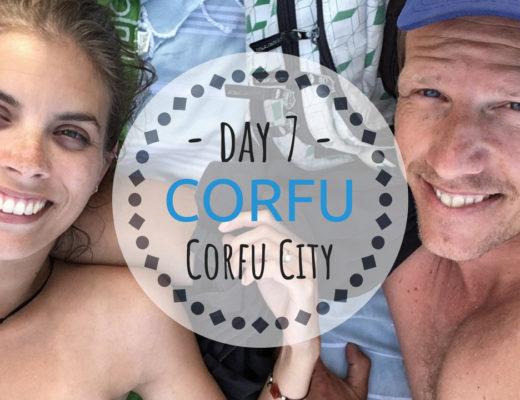 CORFU city Dassia strand