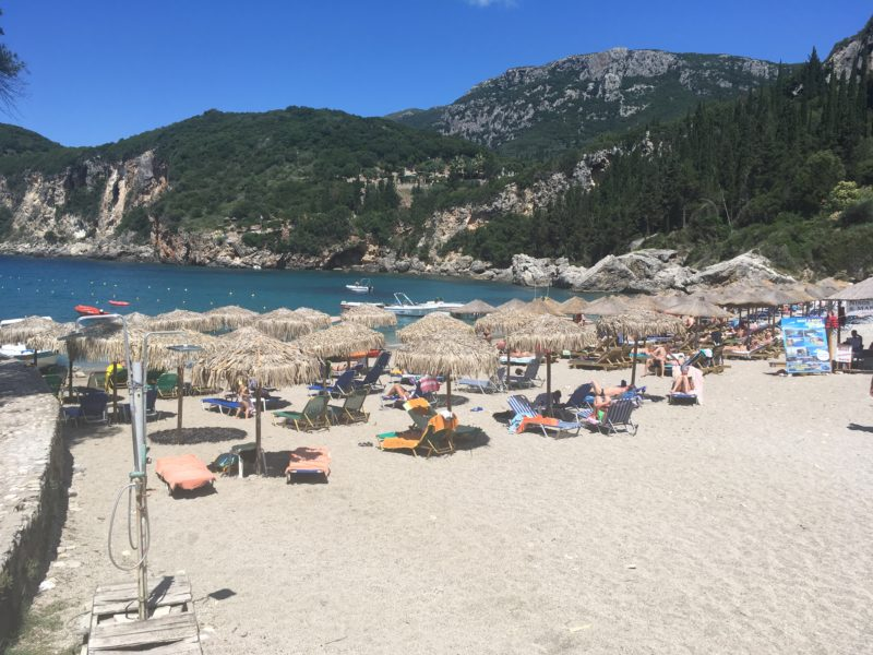 Korfoe Liapades strand Corfu